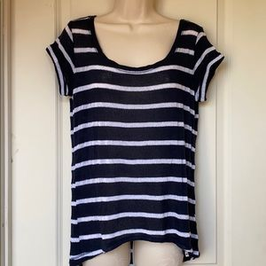 Hollister striped short sleeved sweater M